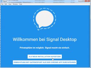 Signal Desktop installieren
