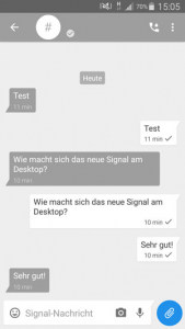 Signal Messenger Smartphone